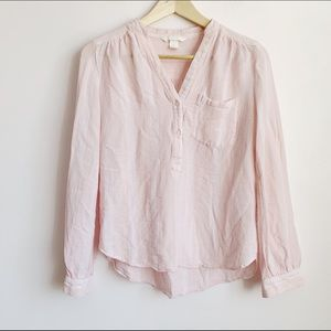 light pink loose fit short tunic style blouse
